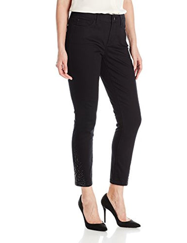 NYDJ Women's Amira Fitted Ankle Jeans, Black, Size 6