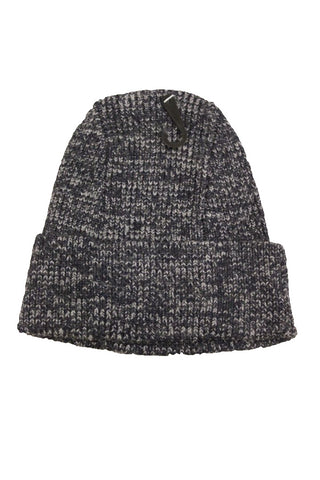Bloomingdale's Men's Navy Speckled Ribbed Beanie