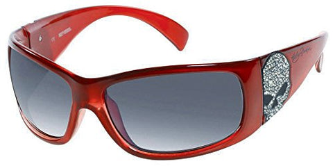 Harley-Davidson Women's Sun Bling Willie G. Skull Red Sunglasses HDS8004RD-3F
