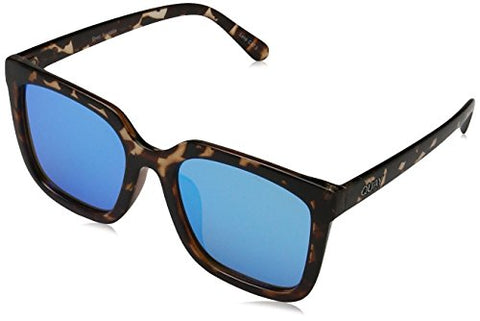 Quay Women's Genesis Sunglasses, Tortoise/Blue, One Size