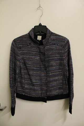 Ecru Women's Zip Up Jacket Multi Tweed S NWT