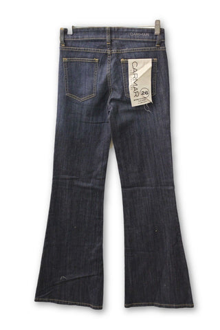 Carmar Women's Bell Bottom Jeans Button Fly, Size 26W