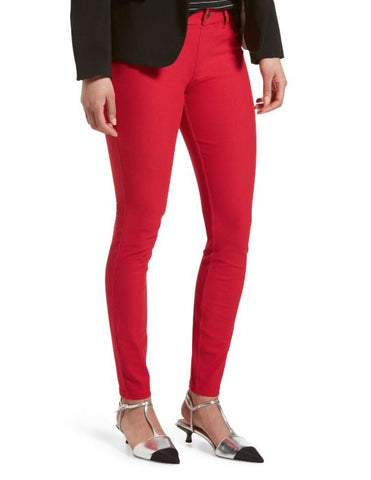 HUE Womens Essential Red Denim Leggings, Size XS