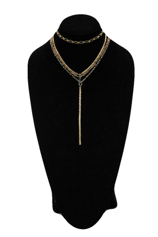 Free People Gold Choker w/ Drop Necklace