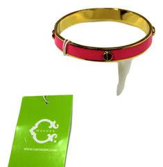 C Wonder Enamel Bangle, Pink