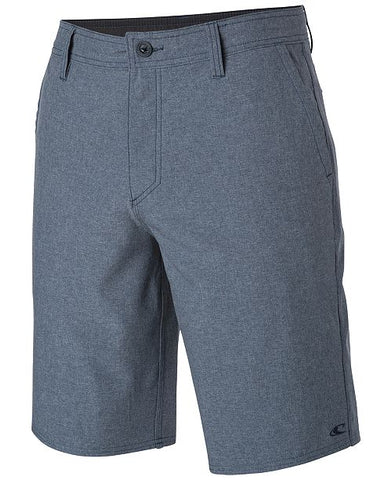 "O'Neill Men's BLue Loaded 21"" Heather Hybrid Shorts, Size 30"