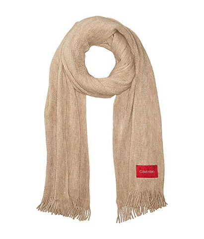 Calvin Klein women's Basic Soft Wrap & Scarf in one,Color:Almond