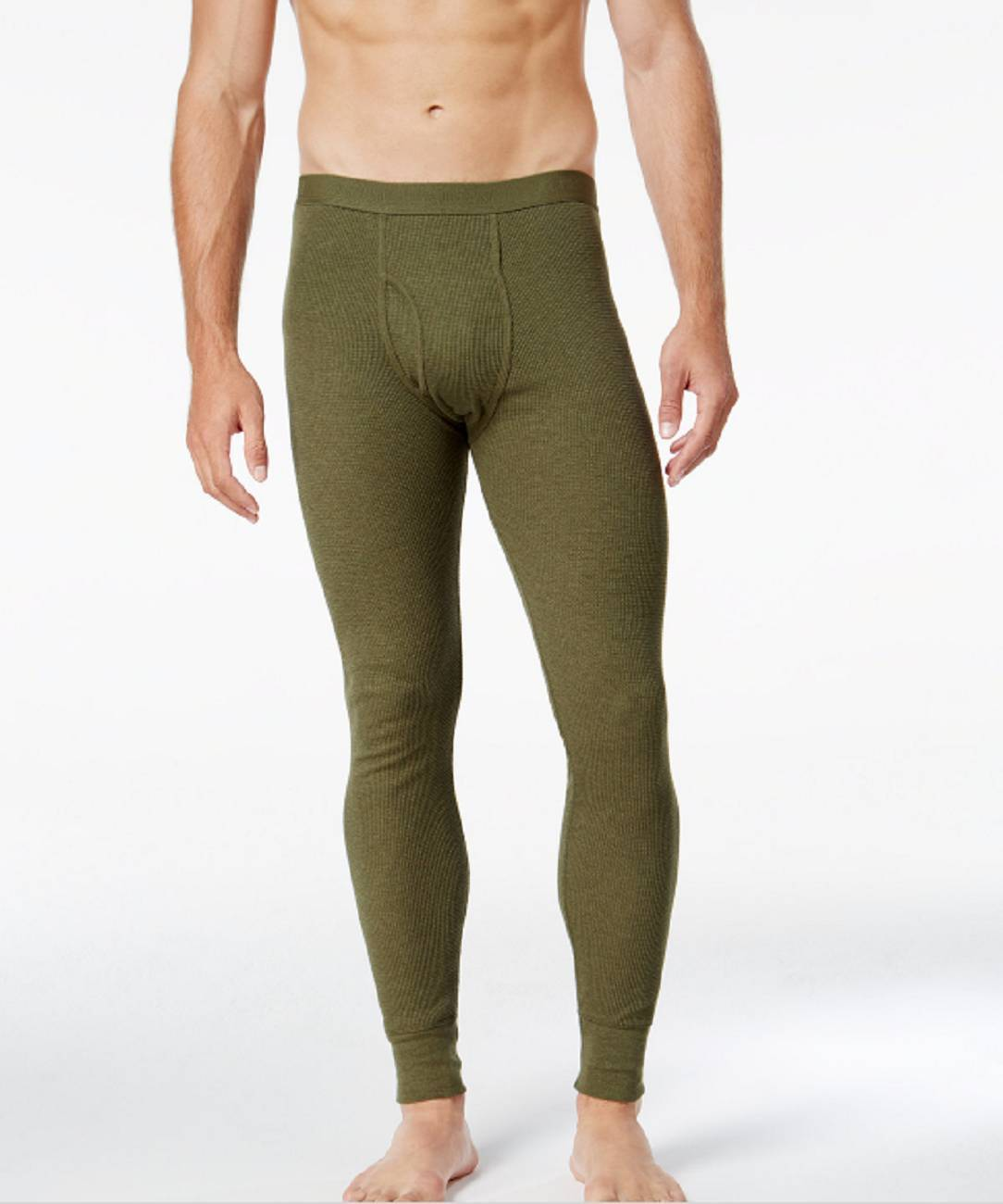 Alfani Men's Green Thermal Underwear Waffle Pants