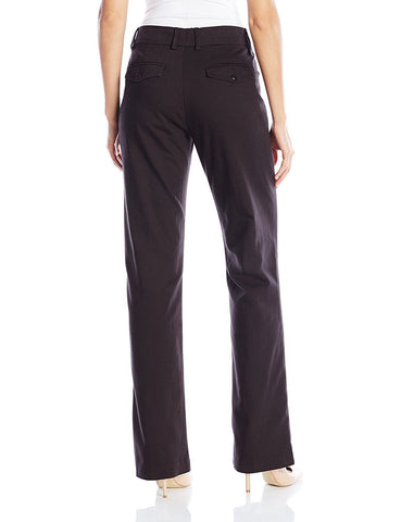 LEE Women's New Midrise No Gap Madelyn Trouser Black 16L