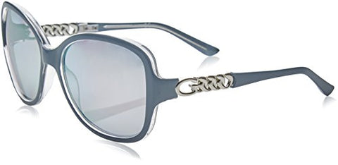 Guess - GU7452, Geometric, acetate, women, BLUE/SMOKE MIRROR(90C), 59/17/135
