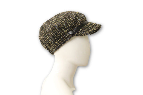 Nine West Women's Dark Gray Woven Hat, One Size Fits All