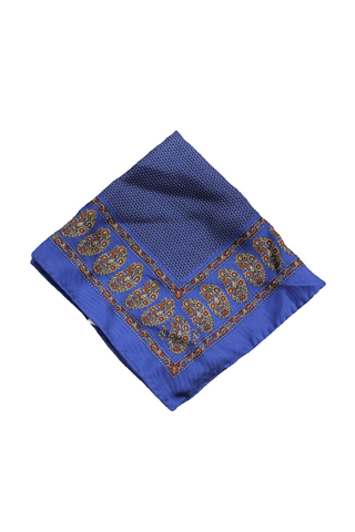 Bloomingdale's Men's Royal Blue Patterned Pocket Square