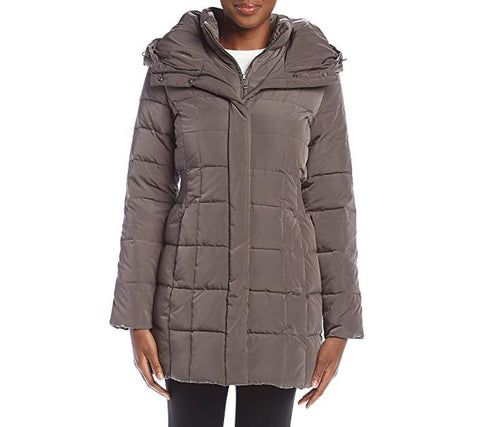 Cole Haan Women's Gray Cinch Waist Jacket, Size M