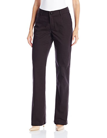LEE Women's New Midrise No Gap Madelyn Trouser, Black, 12