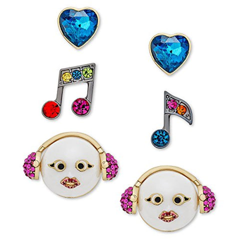 Betsey Johnson xox Trolls Stud Earrings Set, Multicolor (Set of 3)
