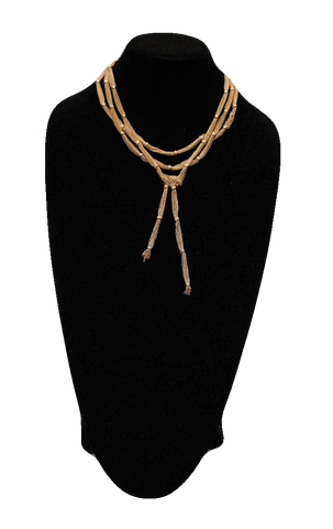 Free People Copper Multi Strand Matinee Necklace