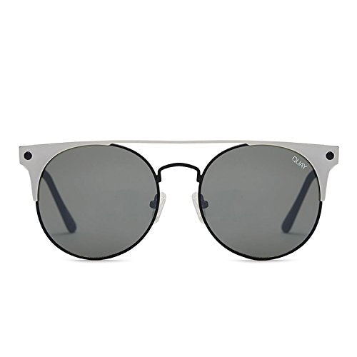371a6c5b4fa Quay Australia THE IN CROWD Women s Sunglasses Bold Classic Round -  BLKSLV SMK