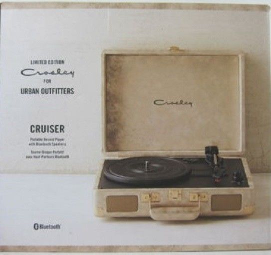 Crosley For Urban Outfitters Cruiser Portable Record Player with Bluetooth, NIB