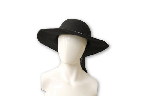 INC International Concepts Women's Black Adjustable Felt Hat, One Size Fits All