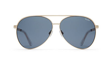 Quay Australia Vivienne Aviator Sunglasses in Gold/Smoke