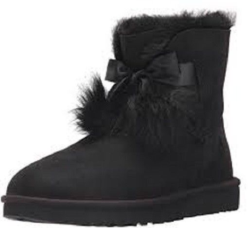 UGG Women's Gita Black Suede boots New With Box!