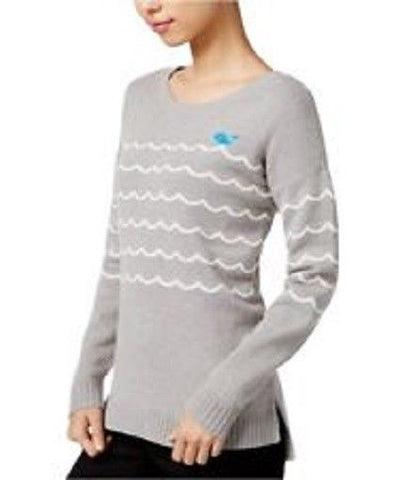 MAISON JULES EMBROIDERED PRINTED SWEATER HEATHER GREY M, NWT