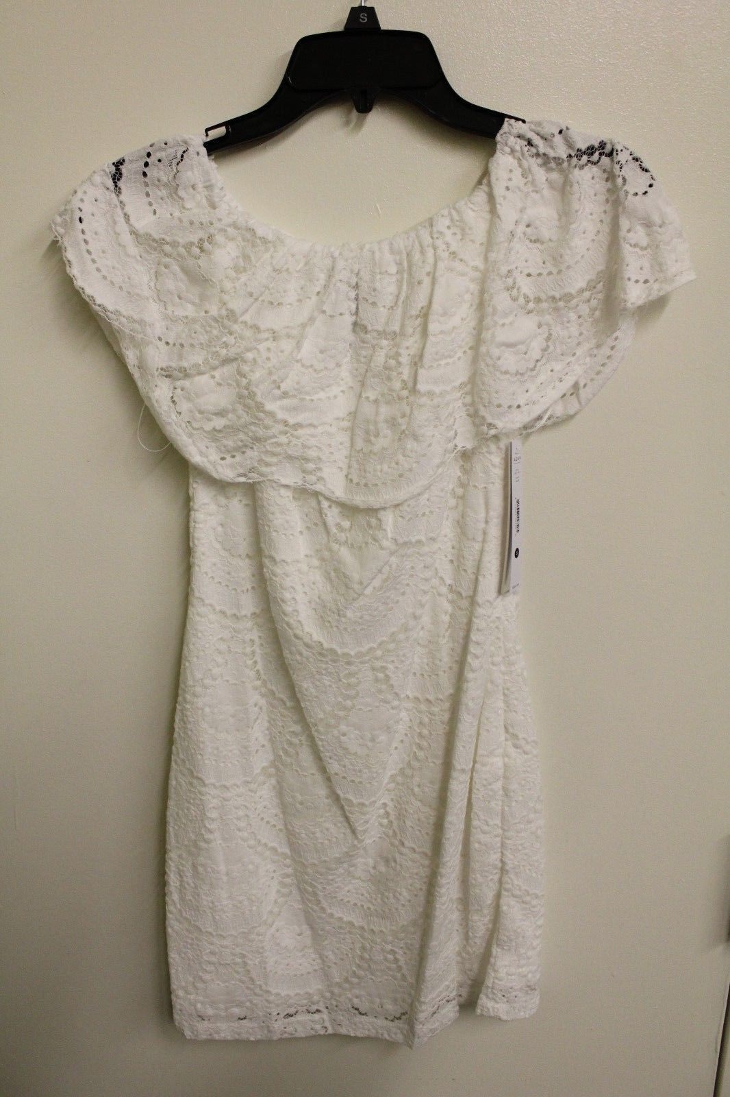Aqua Women's White Lace Dress Shoulderless NWT