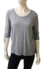 Ecru Clothing Doubled Layered 3/4 Sleeve Linen Tee, Size M, New, 185