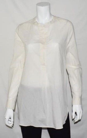 Theory Orvinio Long Sleeve Blouse, White, $255, NWT