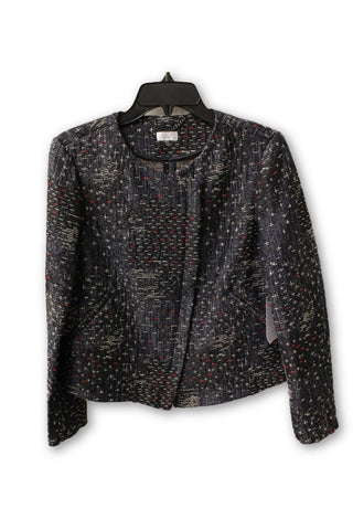 Ecru Women's Black Tweed Zipper Jacket M NWT