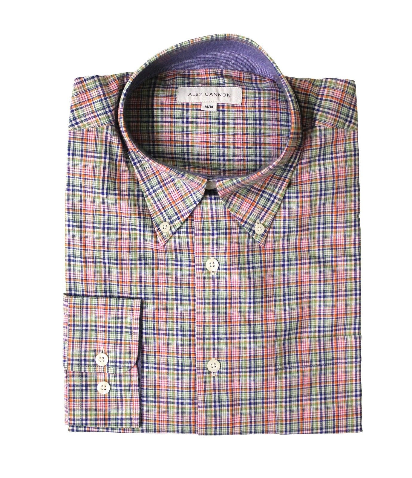 Alex Cannon Men's Dress Shirt, Color Pop, Size M, NWT