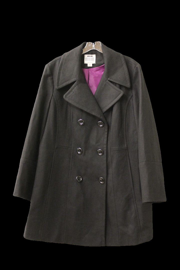 Anne Klein Women's Black Peacoat, Size XXL