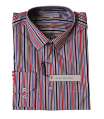 Alex Cannon Men's Dress Shirt, Multi Stripes, Size M, NWT