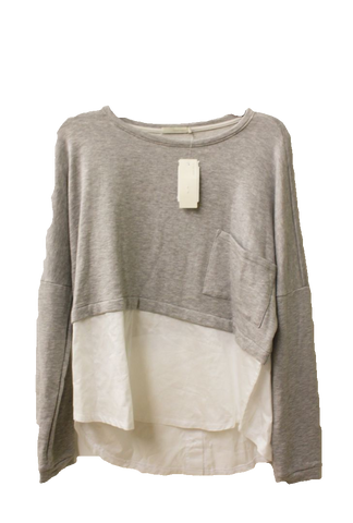 Townsen Women's Gray Fleece Heathered Sweatshirt, Size L