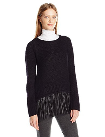 T Tahari Women's Mandie Sweater, Black, Large