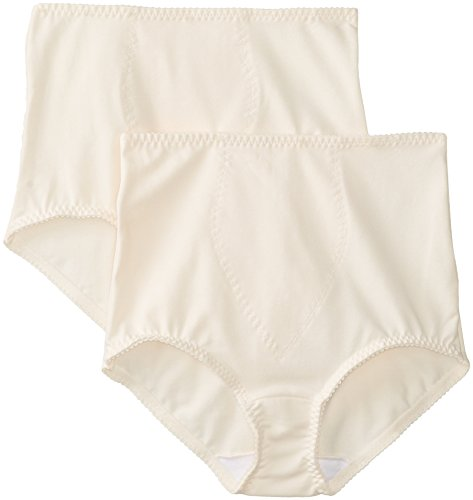 Bali Women's Smoothers Shapewear 2 Pack Cotton Brief with Light Control Porcelain Medium