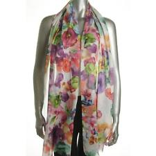 Echo women's Painterly Floral Oblong Wrap & Scarf in One
