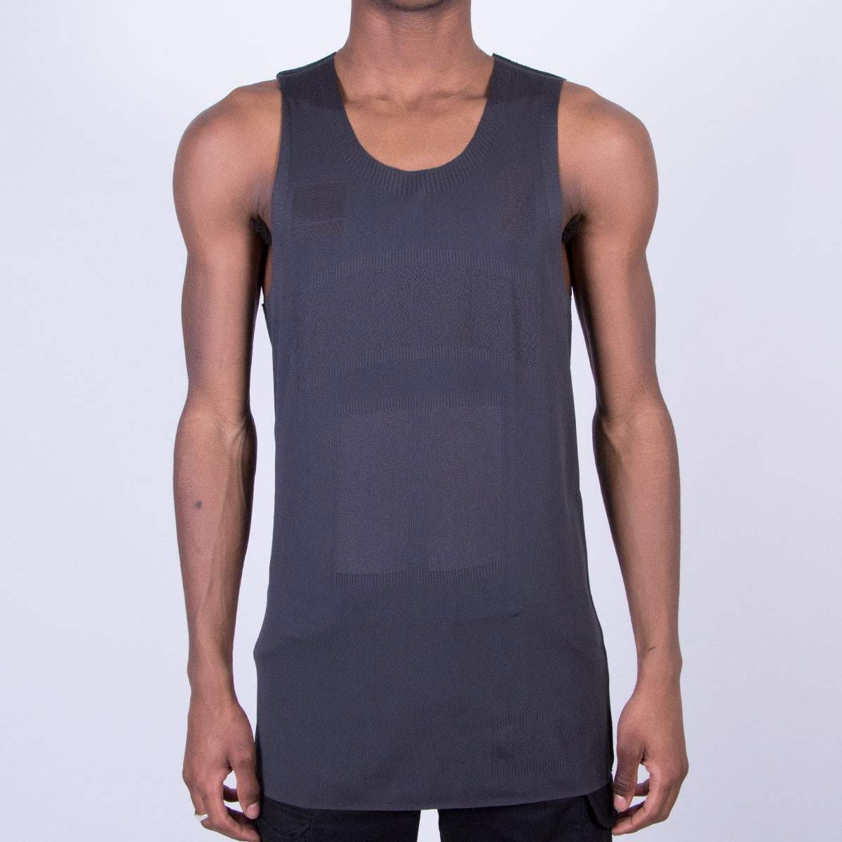 Adidas Mens Originals Day One Seamless Swing Tank Solid Grey, Size XL