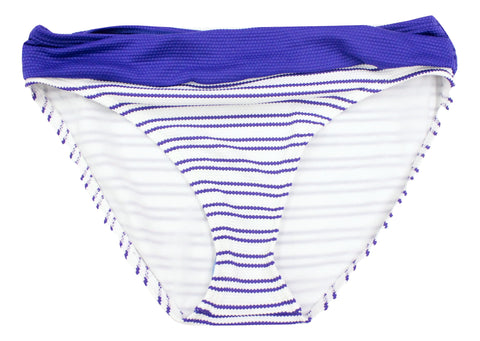 Tommy Bahama Women's White Navy Striped Bikini Bottom Size S