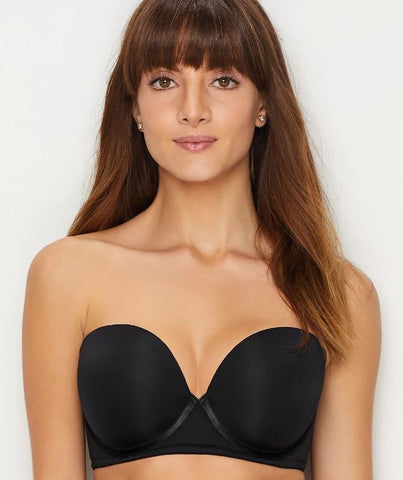 PARAMOUR MARVELOUS Women's STRAPLESS T-SHIRT BRA, Color: Black, Size:38DD.
