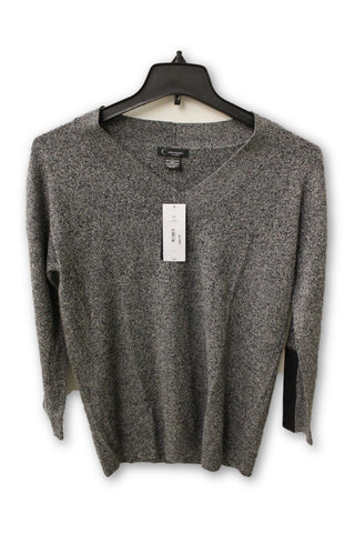 C by Bloomingdale s Women s Cashmere - Gray V Neck Sweater L NWT c5295f9a7