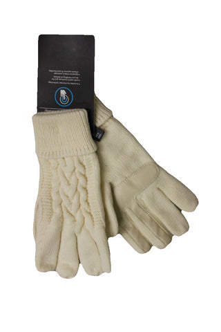 Isotoner Women's Ivory Smartouch Gloves, One Size