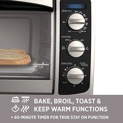 BLACK+DECKER TO1675B 6-Slice Convection Countertop Toaster Oven