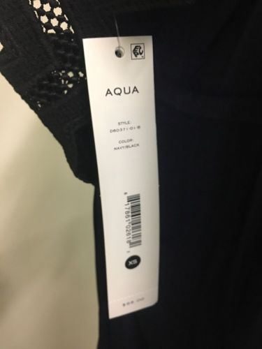 Aqua Women's Navy Dress NWT