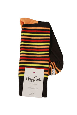 Happy Socks Men's Warm Striped Socks, Sock Size 10-13