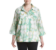 Alfred Dunner Plus Size Floral Layered Look Top 20W