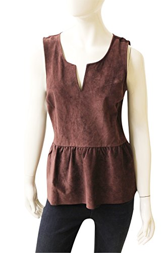 Ecru Clothing Deep Vee Suede Tank, Size M,New $175