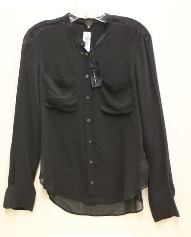 T. Babaton by Aritzia Women's Silk Blouse - Black - NWT