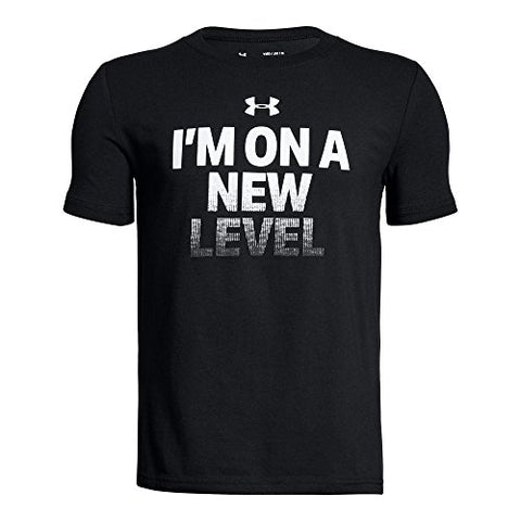 Under Armour Kid's/Men's Black 'I'm On A New Level' Short-Sleeve T-Shirt