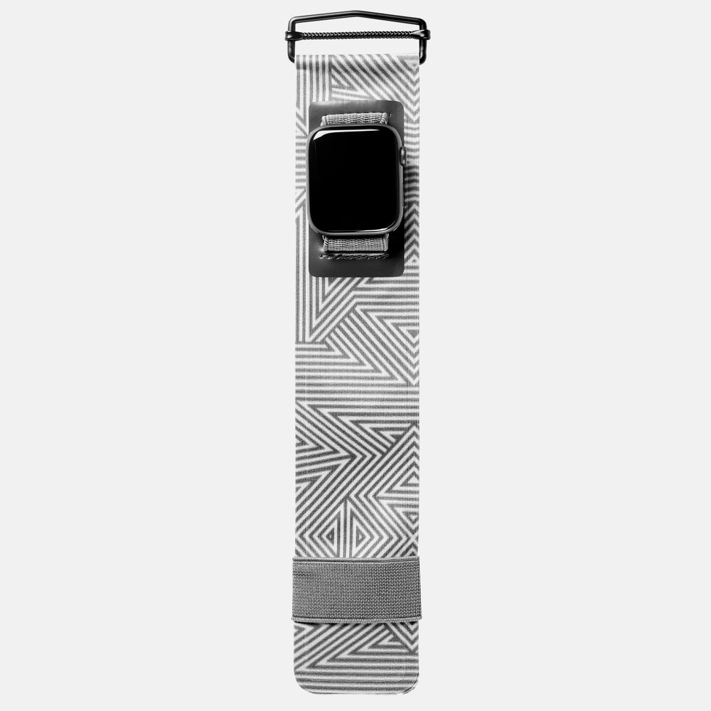Load image into Gallery viewer, Apple Watch Sport Band Grey Geo